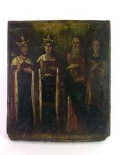 alte russische Ikone - 4 orthodoxe Heilige