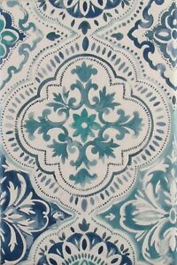 Quatrefoil Floral Print Vinyl Flannel Back Tablecloth-Various Sizes