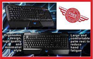 RGB Mechanical Wired Gaming Keyboard w/ Blue Switch 104 Keys Ergonomic Aula NEW