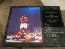 Muhammad Ali statistics plaque - New Lower Pricing!!