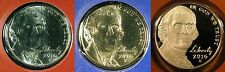 2010 P D S Jefferson Nickel 2 Brilliant Uncirculated Mint Coin's 1 Proof Coin