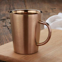 Stainless Steel Double Wall Insulated Water Cup Creative Coffee Mug Tumbler