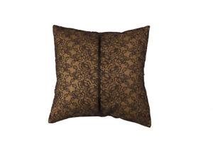 Black Cotton Embroidered Cushion Cover Pillowcase Cover Slip Square 45x45cm