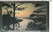 Arkansas River at Sunset    You Run Deep In Me    AR  Unused Postcard 1315S