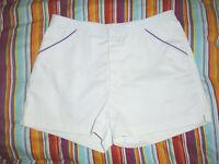 vintage 80`s Rodeo Tennis Shorts oldschool 80er sport Sporthose weiß/lila L