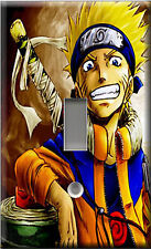 Single Light Switch Plate Cover - Naruto Gold Saints