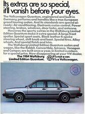 1984 Volkswagen VW Wolfsburg Limited Edition Quantum Vanish Before Your Eyes Ad