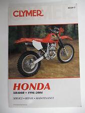 HONDA XR400R 1996-2004 CLYMER SERVICE-REPAIR MANUAL 335 PAGES guidebook hand