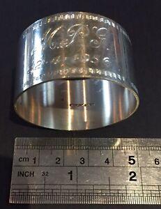 Vintage Australia  sterling silver Napkin ring #12