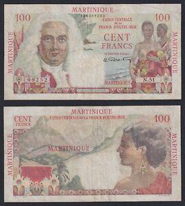 Martinique 100 Francs 1947 (49) BB / VF B-08