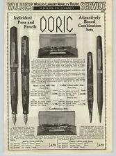 1938 PAPER AD 3 PG Eversharp Doric Fountain Pens Repeater Pencil Sets