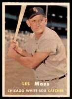 1957 Topps Set Break2 Nm Centered Les Moss Chicago White Sox #213