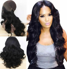 New Wavy Black Wig Synthetic Lace Front Wig 1# Long Body Wave Women's Hair Wigs