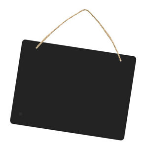 Double Sided Wooden Blackboard Hanging Chalkboard with String #4