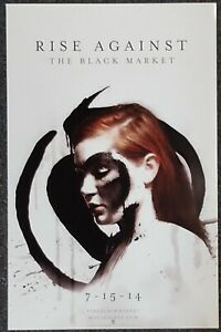 Rise Against The Black Market 2014 DOUBLE-SIDED PROMO POSTER