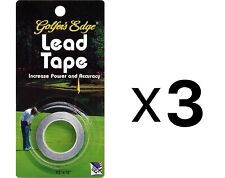 Golfer's Edge Golf Lead Tape with Adhesive Back , ½ x 72 Inches (Pack of 3)