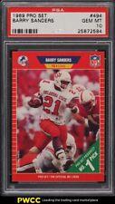 1989 Pro Set Barry Sanders ROOKIE RC #494 PSA 10 GEM MINT