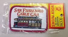 """COLLECTABLE SOUVENIR IRON ON WOVEN PATCHES 2"""" W X 3"""" H SAN FRANCISCO CABLE CAR"""
