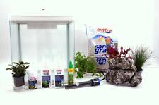 HR-320 weiß inklusive Dekoration Nano Aquarium Komplettaquarium Filteranlage