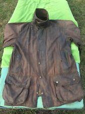"Barbour Beaufort Vintage Briwn Wax Jacket 42"" Large"