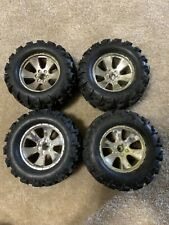 4Pcs 1:81:10Rc Buggy Tires Tyre Wheels Off Road Racing Car Truck Black Silver12m