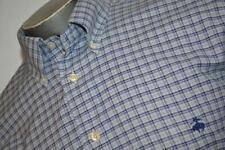 8776-a Mens Brooks Brothers Dress Shirt Size Large Slim Fit Blue Plaids