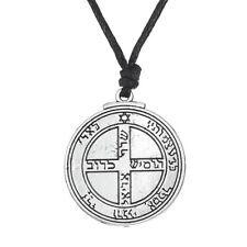 Talismán Júpiter llave de Salomón Pentáculo Colgante de alimentación Collar sello hermético