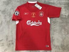 Steven Gerrard Liverpool FC Soccer Team New Men's Champions League Jersey - M