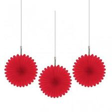 New ListingRed Paper Hanging Fan Decorations x 5