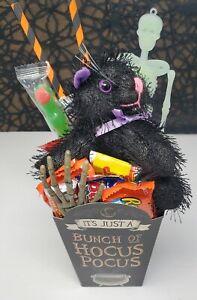 Halloween Hocus Pocus Gift Basket Plush Binx Cat Chocolate & Goodies Spooky🎃