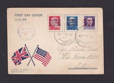 WWII Italy Allied Military Gov. AMGOT 1943 Post Inauguration 1st Day Cover Rare