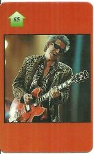 RARE / CARTE TELEPHONIQUE PREPAYEE - THE ROLLING STONES KEITH RICHARDS PHONECARD
