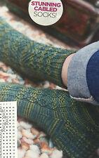 KNITTING PATTERN Rowan Ladies Textured Patterned Socks Cable Design PATTERN