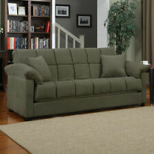 Sage Sleeper Sofa Convertible Couch Full Bed Futon Living Room Furniture Guests