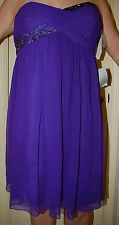 Maggie London Purple Sz 16 Nordstrom (MSRP $148)  SILK Formal cocktail dress NWT