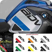 2 Adesivi Fianco Serbatoio Moto BMW R 1200 gs adventure LC LOGO e Fasce ADV