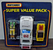 Matchbox Super Value Pack  Racing Set White Mustang + 2  Mint Carded
