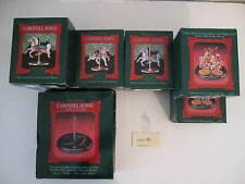 8 CAROUSEL  HALLMARK KEEPSAKE ORNAMENTS, VINTAGE FROM 80'S, ALL IN ORIG BOXES