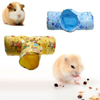 Cute 3 Way Small Animal Hamster Tunnel Rabbit Guinea Pig Exercise Toy Pet Tube