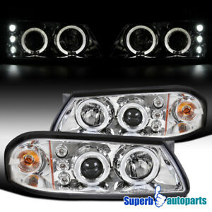 For 2000-2005 Chevy Impala Halo Projector Headlights LED Bar Lamps Replacement