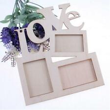 Hot Love Wooden Photo Frame With 3 Wood Picture Frame DIY Gift Home Decor New GA