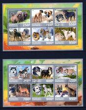 GABON 2017 LES CHIENS DOGS PETS DOMESTIC ANIMALS FAUNA IVOR COAST STAMP MNH CTO
