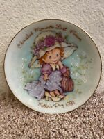 VINTAGE Avon 1981 Mothers Day Plate CHERISHED MOMENTS LAST FOREVER Mini Plate
