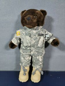 "Bear Forces of America US Army Plush Teddy Bear Ira Green Camo 11"""