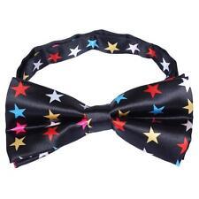Unisex Nero & Stella Colorati Novità Costume Cravatta a farfalla-nuovissimo
