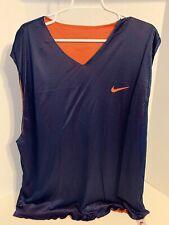 Nike Vintage Reversible Basketball Warm Up Jersey Large Blue/Orange Swoosh Xxl