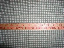 "1.00 yd  55"" Wide; Army Green & Cream Check by Goldenburg Textiles.100% Cotton"