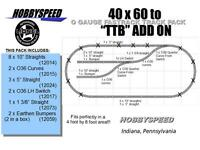 LIONEL FASTRACK 40X60 OVAL TO A TTB TRACK LAYOUT SET ADD-ON-PACK design plan