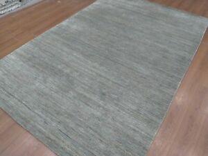 6'6x9'6 Rug | Handmade Hand Loom Wool Gray  Area Rug
