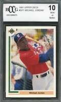 Michael Jordan Rookie Card 1991 Upper Deck #Sp1 Baseball White Sox BGS BCCG 10